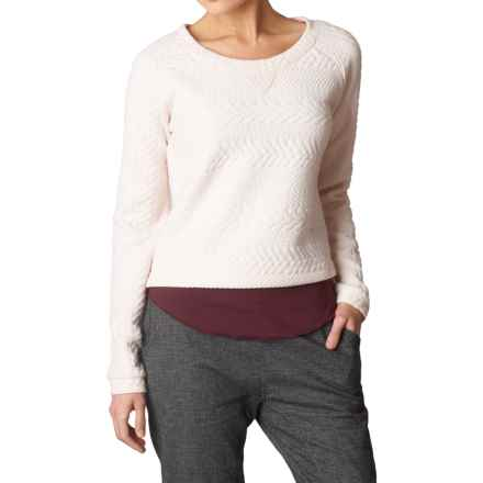prAna Dimension Crop Top - Long Sleeve (For Women) in Winter - Closeouts