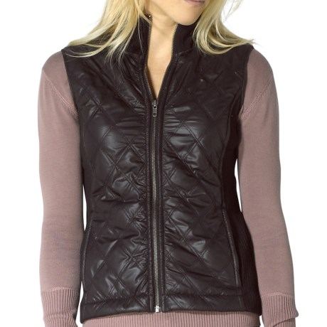 prAna Diva Vest - Diamond Quilted, Sherpa Lining (For Women) in Black