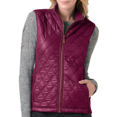 prAna Diva Vest - Diamond Quilted, Sherpa Lining (For Women) in Plum Red