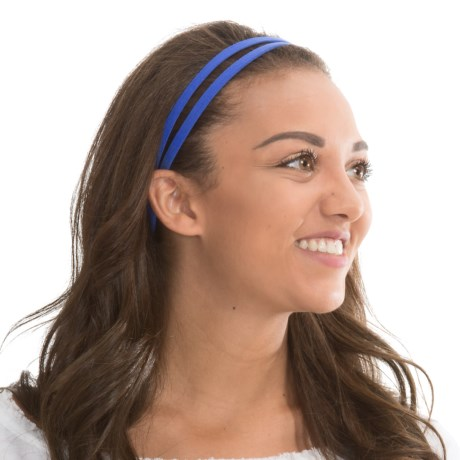 prAna Double Headband - Recycled Materials (For Women) in Blue Jay