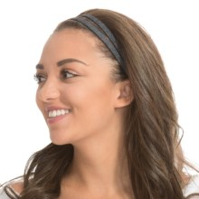 prAna Double Headband - Recycled Materials (For Women) in Coal - Closeouts