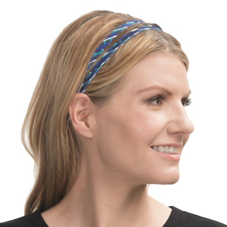 prAna Double Headband - Recycled Materials (For Women) in Dragonfly Sierra