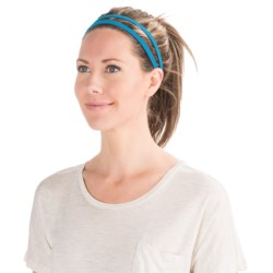 prAna Double Headband - Recycled Materials (For Women) in Electro Blue