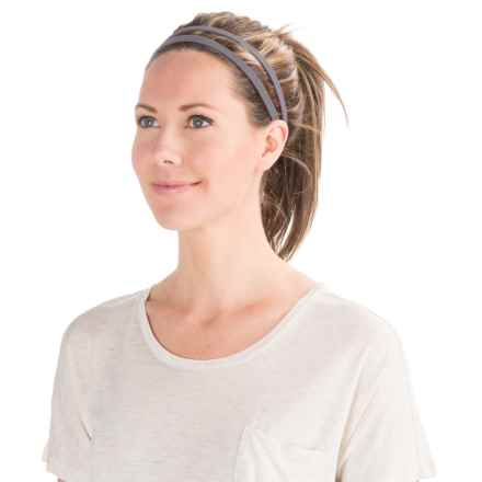 prAna Double Headband - Recycled Materials (For Women) in Heather Grey - Closeouts