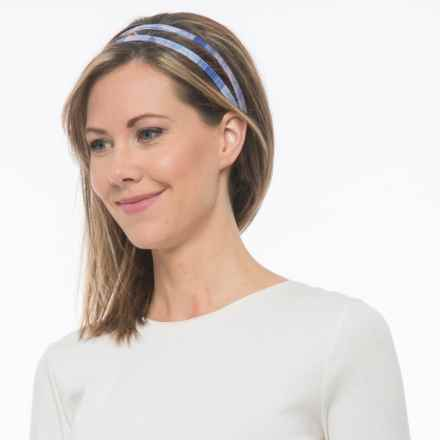 prAna Double Headband - Recycled Materials (For Women) in Lavender Gemstone - Closeouts