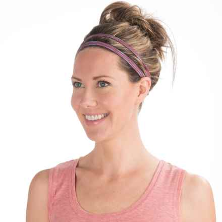 prAna Double Headband - Recycled Materials (For Women) in Red Ziggie - Closeouts
