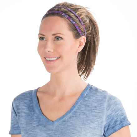 prAna Double Headband - Recycled Materials (For Women) in Viola Charmer - Closeouts