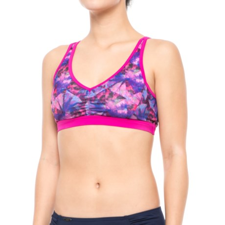 prAna Dreaming Bikini Top - UPF 50+, Removable Cups (For Women) in Supernova Pinwheel