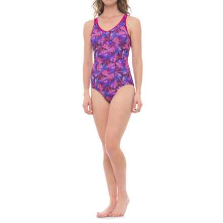 prAna Dreaming One-Piece Swimsuit - UPF 50+, Built-In Bra (For Women) in Supernova Pinwheel - Closeouts