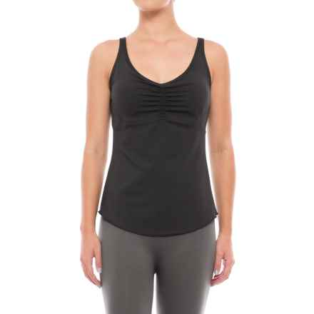 prAna Dreaming Tank Top - Build-In Bra, Racerback (For Women) in Black - Closeouts