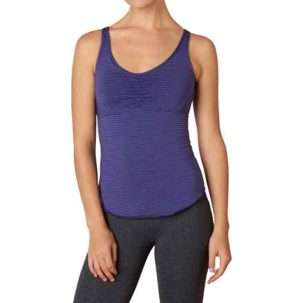 prAna Dreaming Tank Top - Build-In Bra, Racerback (For Women) in Indigo Pinstripe - Closeouts