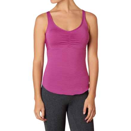 prAna Dreaming Tank Top - Build-In Bra, Racerback (For Women) in Orchid Pinstripe - Closeouts