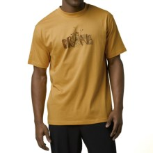 prAna Dri-Balance Graphic T-Shirt - Short Sleeve (For Men) in Dijon Sprout - Closeouts