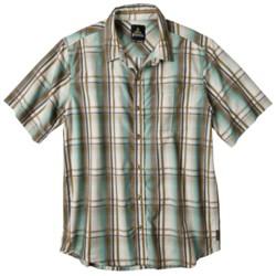 prAna Duke Shirt - Short Sleeve (For Men) in Spinach