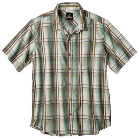 prAna Duke Shirt - Short Sleeve (For Men) in Spinach