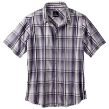 prAna Duke Shirt - Short Sleeve (For Men) in Eggplant - Closeouts