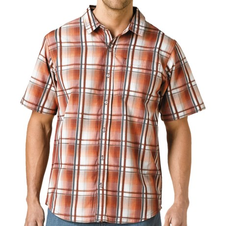 prAna Duke Shirt - Short Sleeve (For Men) in Tomato