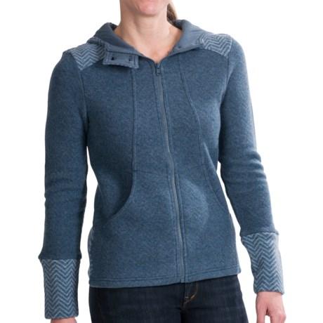 prAna Eden Sweater Jacket - Wool Blend (For Women) in Blue Yonder