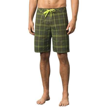 prAna El Porto Boardshorts (For Men) in Cargo Green - Closeouts