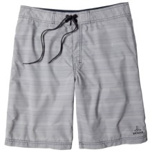 prAna El Porto Boardshorts (For Men) in Light Grey - Closeouts