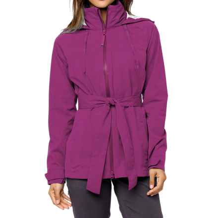 PRANA ELIZA JACKET-WATERPROOF (For Women) in Light Red Violet - Closeouts