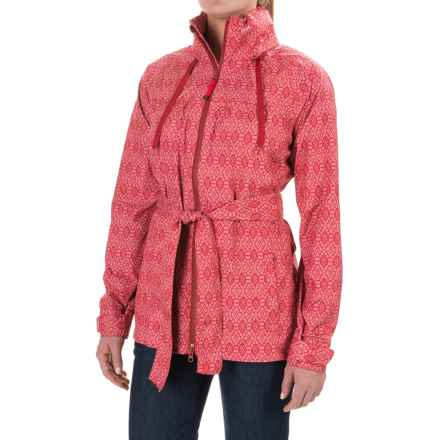 PRANA ELIZA JACKET-WATERPROOF (For Women) in Sunwashed Red Misty - Closeouts