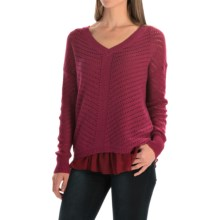 prAna Ellery Sweater (For Women) in Plum Red - Closeouts