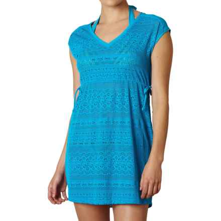 prAna Elliot Swimsuit Cover-Up Dress - Short Sleeve (For Women) in Vivid Blue - Closeouts