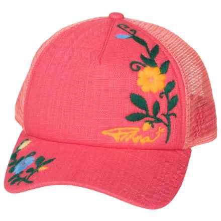prAna Embroidered Trucker Hat (For Women) in Cosmo Pink - Closeouts