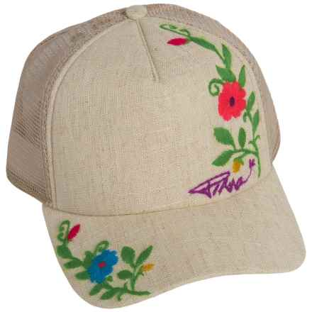 prAna Embroidered Trucker Hat (For Women) in Sand - Closeouts