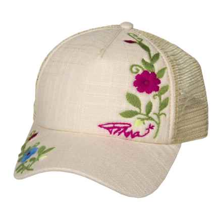 prAna Embroidered Trucker Hat (For Women) in Stone - Closeouts
