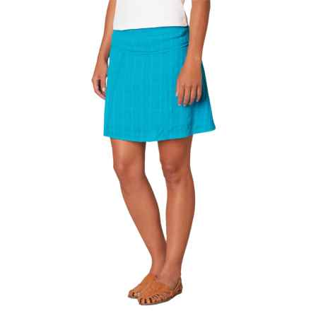 prAna Erin Skirt - Woven Cotton (For Women) in Cove - Closeouts