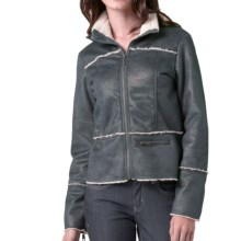 prAna Esme Jacket - Embossed Faux Suede (For Women) in Coal - Closeouts