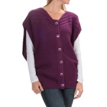 prAna Estee Sweater Vest - Organic Cotton (For Women) in Black Plum - Closeouts