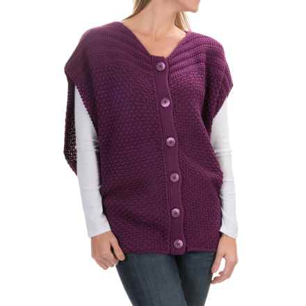 prAna Estee Sweater Vest - Organic Cotton (For Women) in Black Plum - Closeouts