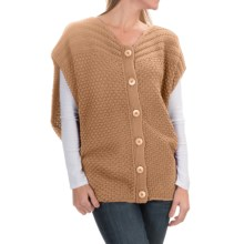 prAna Estee Sweater Vest - Organic Cotton (For Women) in Camel - Closeouts