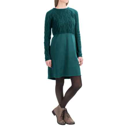 prAna Everly Dress with Cropped Sweater (For Women) in Deep Teal - Closeouts