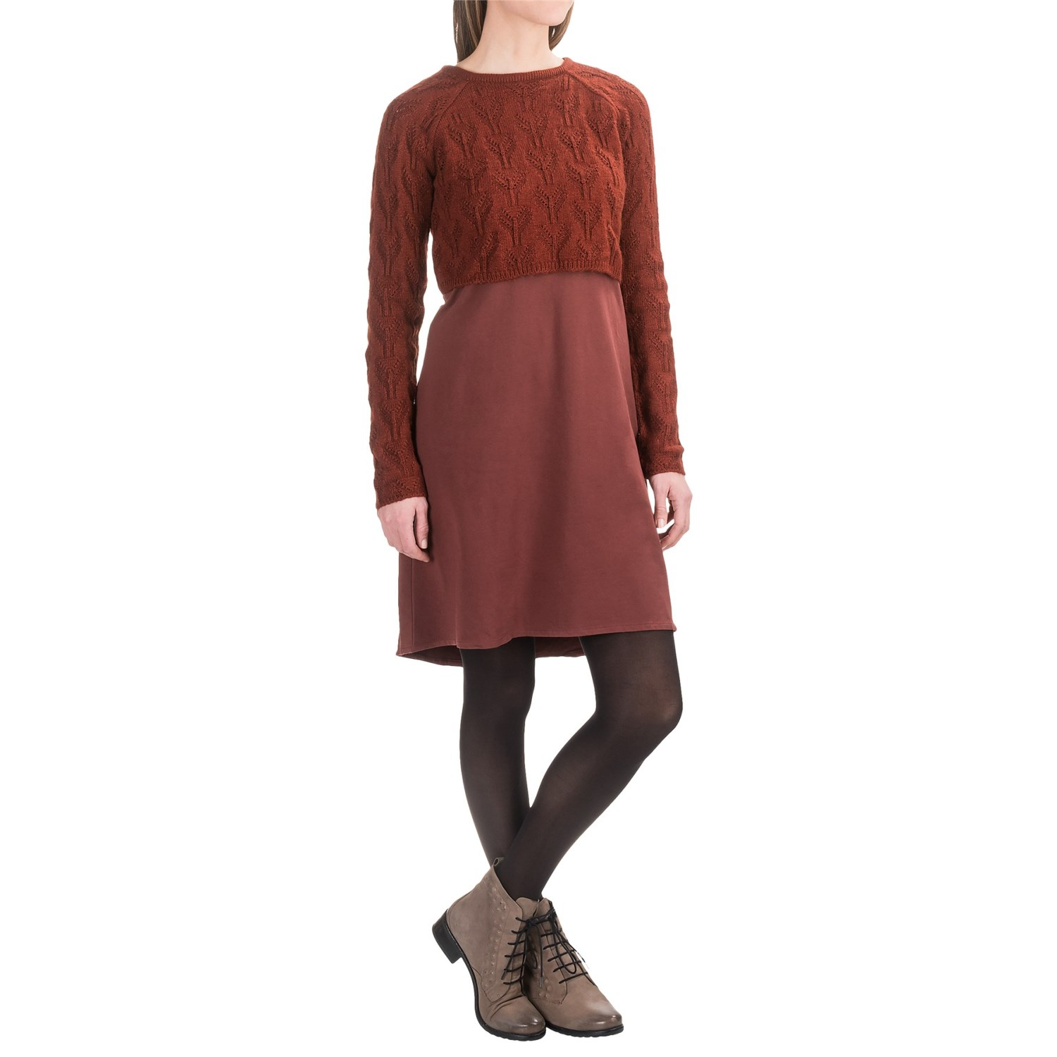 prAna Everly Dress with Cropped Sweater (For Women) - Save 55%