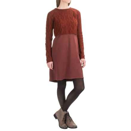 prAna Everly Dress with Cropped Sweater (For Women) in Raisin - Closeouts