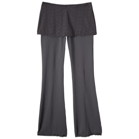 prAna Farrah Pants with Skirt (For Women) in Coal