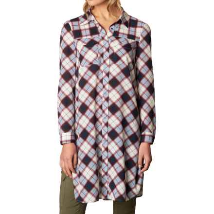 prAna Flint Maxi Shirt - Long Sleeve (For Women) in Nautical - Closeouts