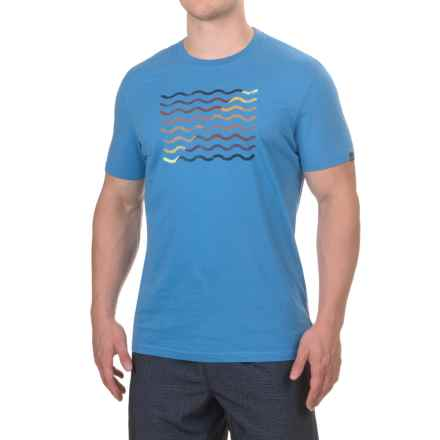 prAna Flow T-Shirt - Organic Cotton, Short Sleeve (For Men) in Future Blue - Closeouts
