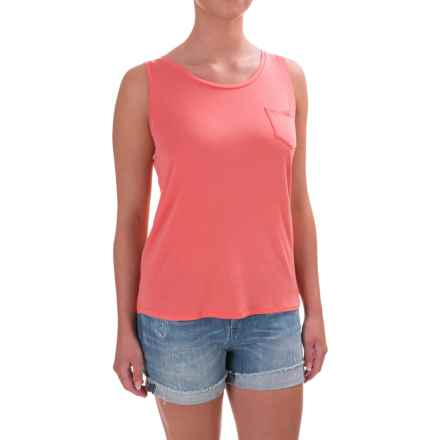 prAna Foundation Tank Top - Stretch Modal, Scoop Neck (For Women) in Summer Peach - Closeouts