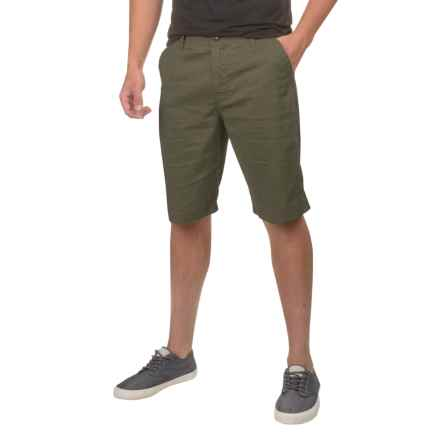 prAna Furrow Shorts (For Men) in Cargo Green - Closeouts
