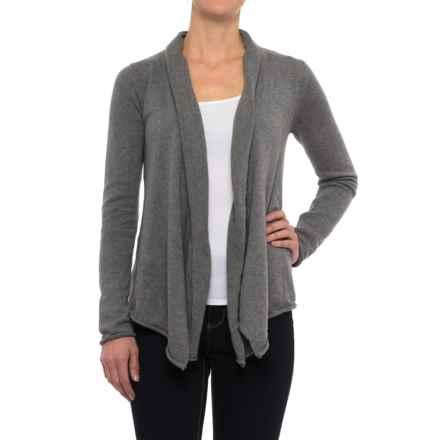 prAna Georgia Cardigan Wrap - Organic Cotton, Long Sleeve (For Women) in Gravel - Closeouts