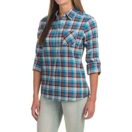 prAna Gina Shirt - Organic Cotton, Long Sleeve (For Women) in Cove - Closeouts