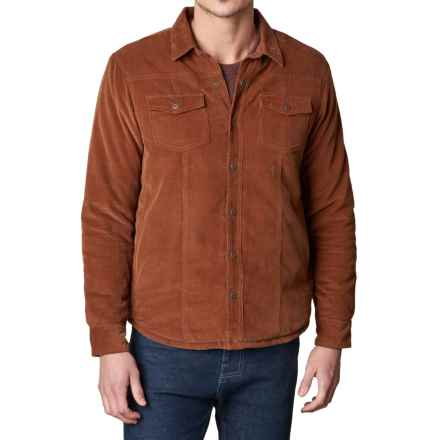 prAna Gomez Corduroy Jacket - Insulated Sleeves, Snap Front (For Men) in Auburn - Closeouts