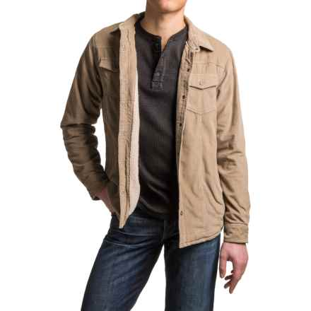 prAna Gomez Corduroy Jacket - Insulated Sleeves, Snap Front (For Men) in Dark Khaki - Closeouts