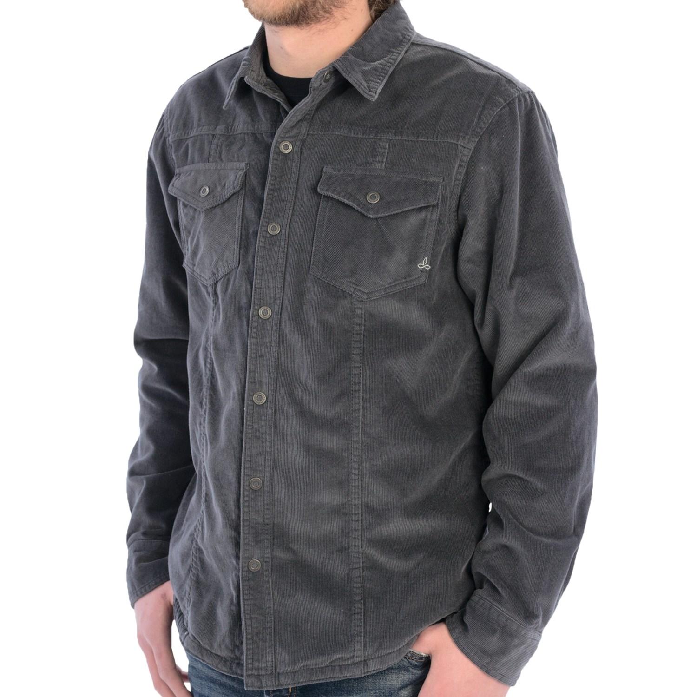 Prana Gomez Corduroy Shirt Jacket Long Sleeve For Men