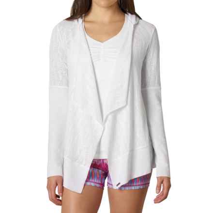 prAna Graceful Hooded Wrap - Organic Cotton Blend, Long Sleeve (For Women) in White - Closeouts